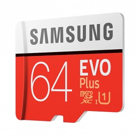 Samsung MicroSDXC EVO Plus Class 10 UHS-1 U1 (100MB/s) 64GB with SD Adapter - MB-MC64HA (EU Version) - 2