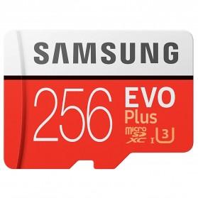 Samsung MicroSDXC EVO Plus Class 10 UHS-1 U3 (100MB/s) 256GB with SD Adapter - MB-MC256HA (EU Version)
