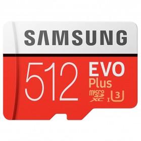 Samsung MicroSDXC EVO Plus Class 10 UHS-1 U3 (100MB/s) 512GB with SD Adapter - MB-MC512HA (EU Version)