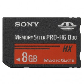 Sony Memory Stick PRO-HG Duo HX Media 8GB - MS-HX8B - Black
