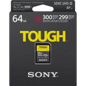 Sony Tough Series UHS-II SDXC (299MB/s) 64GB - SF-G64T - 10