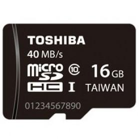 Toshiba MicroSDHC UHS-I Class 10 (40MB/s) 16GB - SD-C016GR7AR040A - Black