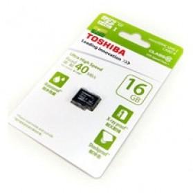 Toshiba MicroSDHC UHS-I Class 10 (40MB/s) 16GB - SD- ...