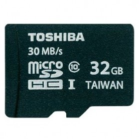 Toshiba MicroSDHC UHS-I Class 10 (30MB/s) 32GB withSD Card Adapter - SD-C032UHS1(BL5A - Black