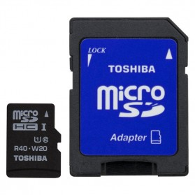 Toshiba MicroSDHC UHS-I Class 10 (30MB/s) 32GB withSD Card Adapter - SD-C032UHS1(BL5A - Black - 2