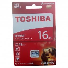Toshiba Exceria MicroSDHC UHS-I Class 10 (48MB/s) 16GB - THN-M301R0160C4 - Black