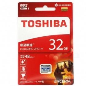 Toshiba Exceria MicroSDHC UHS-I Class 10 (48MB/s) 32GB - THN-M301R0320C4 - Black - 3