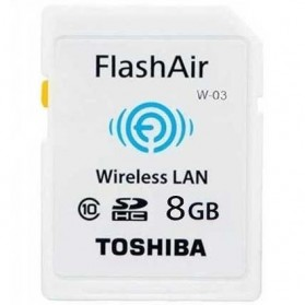 Toshiba Flash Air Wireless SD Card Class 10 8GB - THN-NW03W0080C6 - White