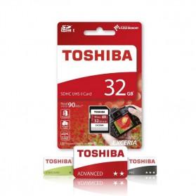 Toshiba Exceria SDHC UHS-I Class 10 U3 90MB/S 32GB - Black - 2