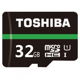 Storage Komputer PC / Laptop - Toshiba Exceria MicroSDHC Class 10 UHS-1 (80MB/s) 32GB - THN-M202N0320C4 - Black
