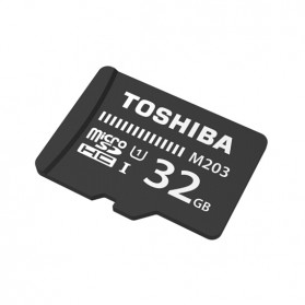 Toshiba M203 MicroSDHC UHS-I Class 10 (100MB/s) 32GB - THN-M203K0320C4 - Black - 2