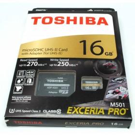 Toshiba TF Exceria Pro Micro SDHC UHS-II R270/W250 MB/s 16GB - Black