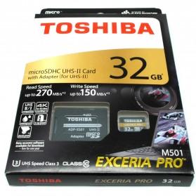 Toshiba TF Exceria Pro Micro SDHC UHS-II R270/W150 MB/s 32GB - Black