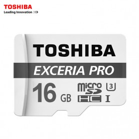 Toshiba Exceria Pro Micro SDHC UHS-I U3 R95/W80 MB/s 16GB with Adapter