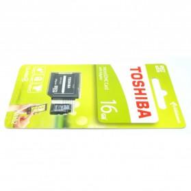 Toshiba MicroSDHC Class 4 15MB/s 16GB dengan Adapter - 3