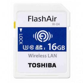 Toshiba Flash Air Wireless SD Card Class 10 16GB - CW-4 Cl10 - White