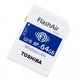 Toshiba Flash Air Wireless SD Card Class 10 64GB - CW-4 Cl10 - White