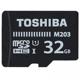 Toshiba M203 MicroSDHC UHS-I Class 10 (100MB/s) 32GB with Adapter - THN-M203K0320EA - Black - 2