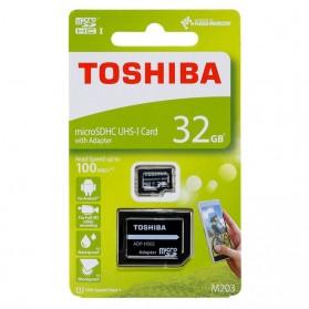Toshiba M203 MicroSDHC UHS-I Class 10 (100MB/s) 32GB with Adapter - THN-M203K0320EA - Black - 3