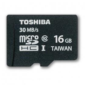 Toshiba MicroSDHC UHS-I Class 10 (30MB/s) 16GB - SD-C016GR7AR30 - Black
