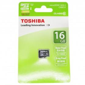 Toshiba MicroSDHC UHS-I Class 10 (30MB/s) 16GB - SD-C016GR7AR30 - Black - 2