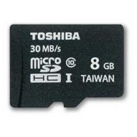 Toshiba MicroSDHC UHS-I Class 10 (30MB/s) 8GB - SD-C008GR7AR30 - Black - 1
