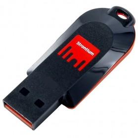 Strontium Pollex USB Flash Drive 2GB - SR2GRDPOLLEX - Black/Red - 2
