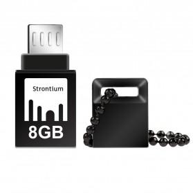 Strontium Nitro OTG USB Flash Drive 8GB - SR8GBBOTG2Z - Black - 1
