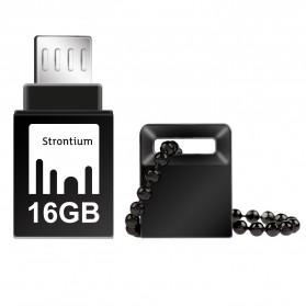 Strontium Nitro OTG USB Flash Drive 16GB - SR16GBBOTG2Z - Black