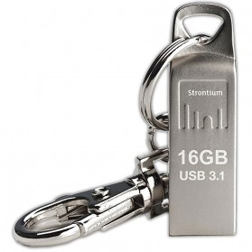 Storage Komputer PC / Laptop - Strontium Ammo USB 3.1 Flash Drive 16GB - SR16GSLAMMOY - Silver