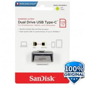 SanDisk Ultra Dual USB Drive Type-C 128GB - SDDDC2-128G - Black