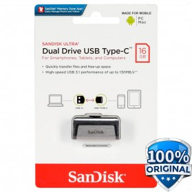 SanDisk Ultra Dual USB Drive Type-C 16GB - SDDDC2-016G - Black