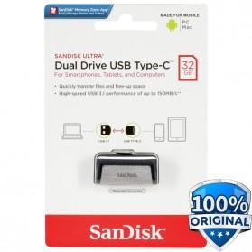 SanDisk Ultra Dual USB Drive Type-C 32GB - SDDDC2-032G - Black