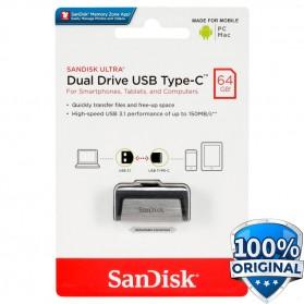 SanDisk Ultra Dual USB Drive Type-C 64GB - SDDDC2-064G - Black