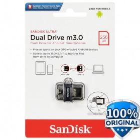 Sandisk Ultra Dual OTG Flash Drive M3.0 256GB - SDDD3-256G - Black