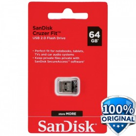 SanDisk Cruzer Fit USB Flash Drive 64GB - SDCZ33-064G-G35