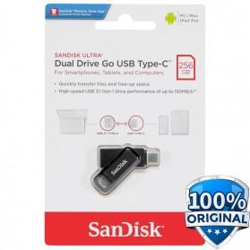 SanDisk Ultra Dual Drive Go USB Type C Flashdisk 256GB - SDDDC3 - Black