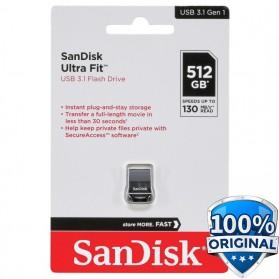 Sandisk Ultra Fit USB 3.1 Flashdisk 512GB - SDCZ430 - Black