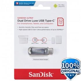 SanDisk Ultra Dual Drive Luxe USB Type C 3.1 Flashdisk 32GB - SDDDC4 - Silver - 1