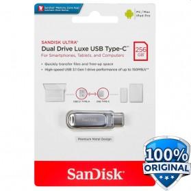 SanDisk Ultra Dual Drive Luxe USB Type C 3.1 Flashdisk 256GB - SDDDC4 - Silver
