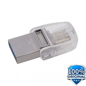 Kingston DataTraveler microDuo 3C USB Type-C & USB 3.1 - 32GB - Silver