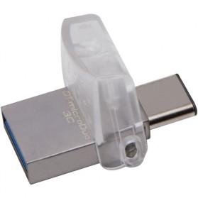 Kingston DataTraveler microDuo 3C USB Type-C & USB 3.1 - 64GB - Silver - 2