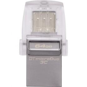 Kingston DataTraveler microDuo 3C USB Type-C & USB 3.1 - 64GB - Silver - 3