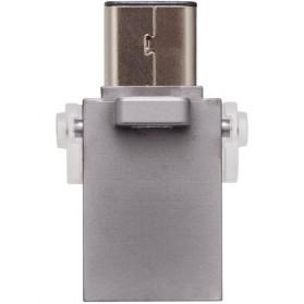 Kingston DataTraveler microDuo 3C USB Type-C & USB 3.1 - 64GB - Silver - 5