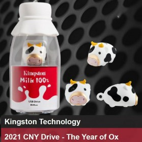 Kingston Milk 100% Chinese New Year Cow Limited Edition Flashdisk USB 3.2 64GB - DTCNY21 - White