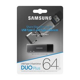 Samsung Duo Plus Flashdisk USB Type C 3.1 64GB - MUF-64DB - Black - 10