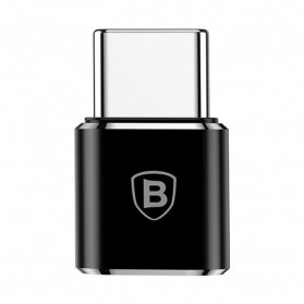 Baseus Micro USB Female to USB Type C OTG Adapter - CAMOTG-01 - Black