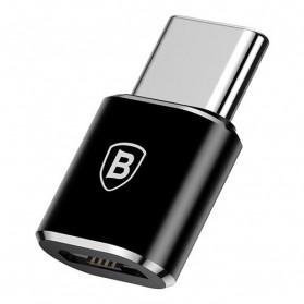 Baseus Micro USB Female to USB Type C OTG Adapter - CAMOTG-01 - Black - 2