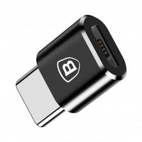 Baseus Micro USB Female to USB Type C OTG Adapter - CAMOTG-01 - Black - 3