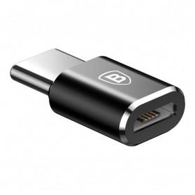 Baseus Micro USB Female to USB Type C OTG Adapter - CAMOTG-01 - Black - 4